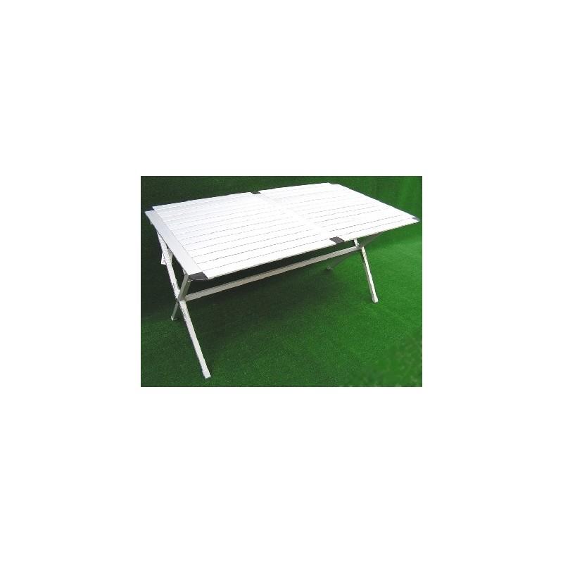 Mesa plegable aluminio 110x70 caravaning esguard for Mesa plegable aluminio