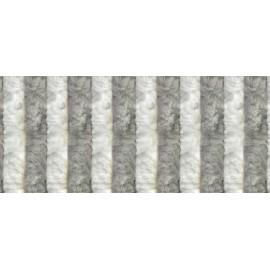 CORTINA TERCIOPELO 56X185 GRIS-BLANCA