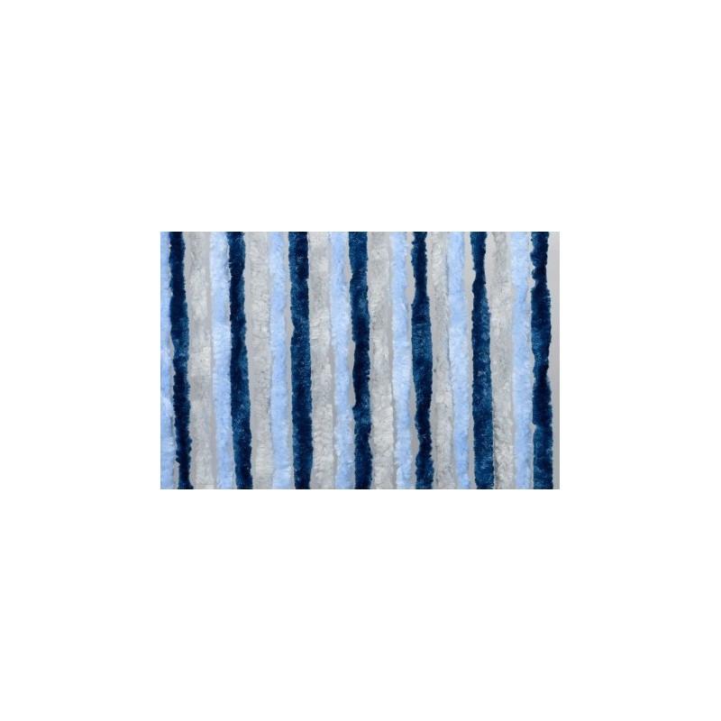 Cortina terciopelo 56x185 azul cielo azul marino gris caravaning esguard - Cortinas azul marino ...