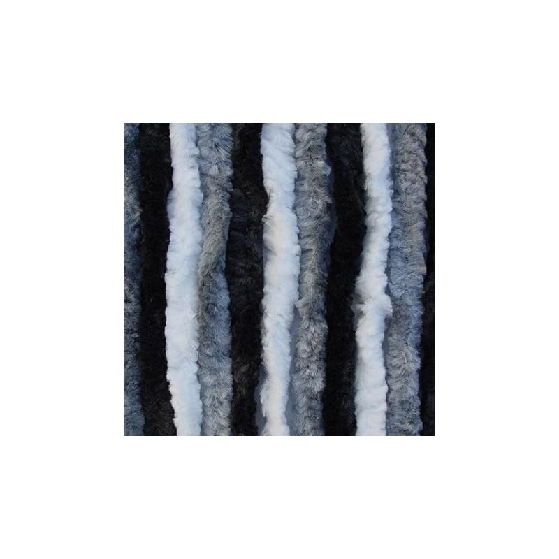 Cortina terciopelo 56x185 gris negra blanca caravaning - Cortinas grises y blancas ...