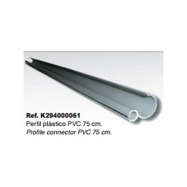 PERFIL PVC GUIA+CANAL PVC 75cm