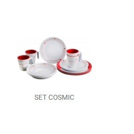 SET MELAMINA 16 PC. COSMIC